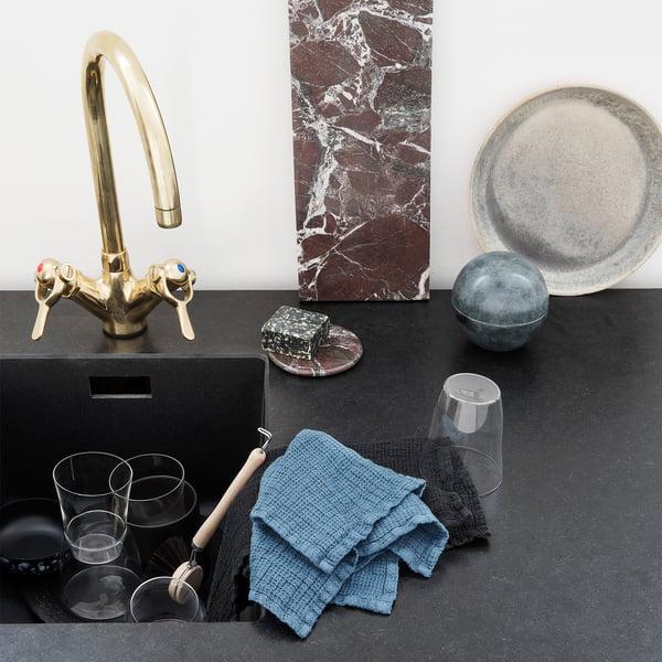 Leinen Abwaschtuch 32 x 32 cm von Georg Jensen Damask