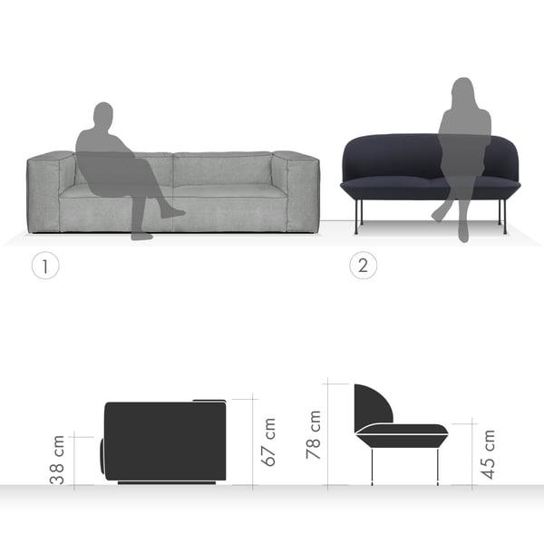 Sofa Grafik 4 - Sitzen und Relaxen