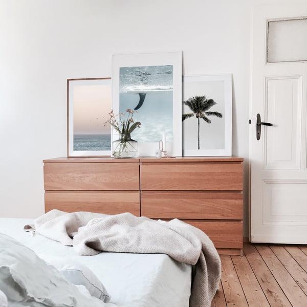 Strand-Poster im Schlafzimmer von Karlas View