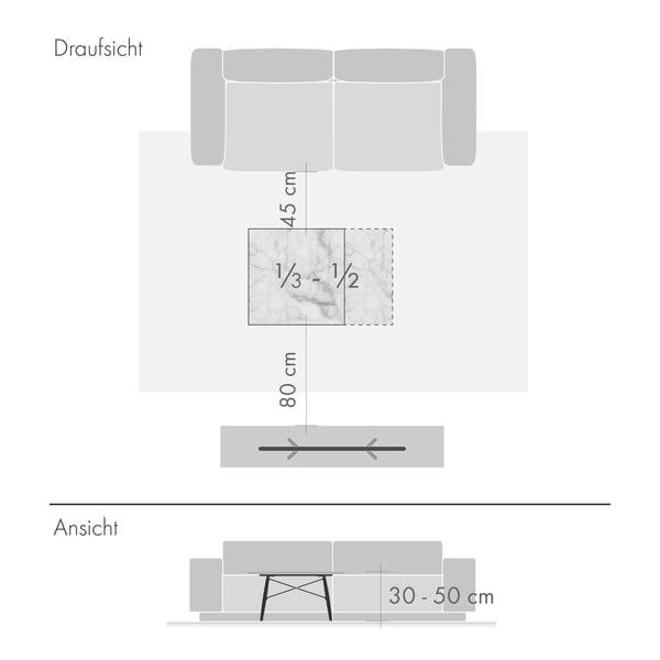 Couchtische Grafik 2 - Höhe und Größe