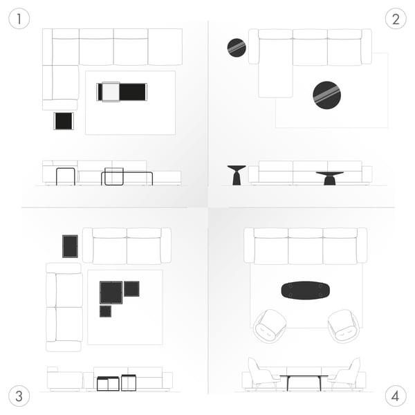 Couchtische Grafik - Wohnsituationen